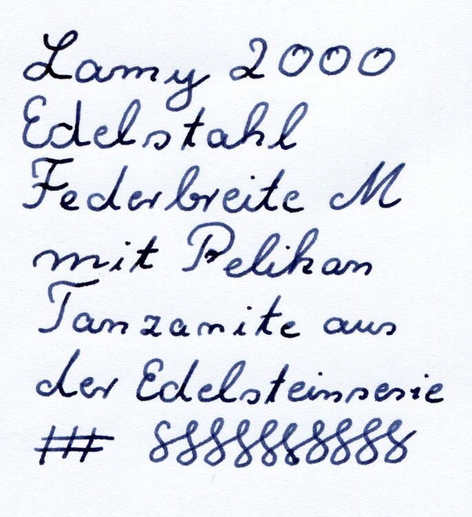 2000er mit M und Pelikan Tanzanite. Eine schöne Verbindung