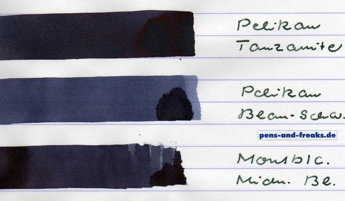 Der Papierausstrich: Sättigung und Farben werden dadurch erkennbar.