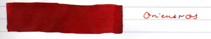 Beschriftung mit der Sheaffer Skrip Rot