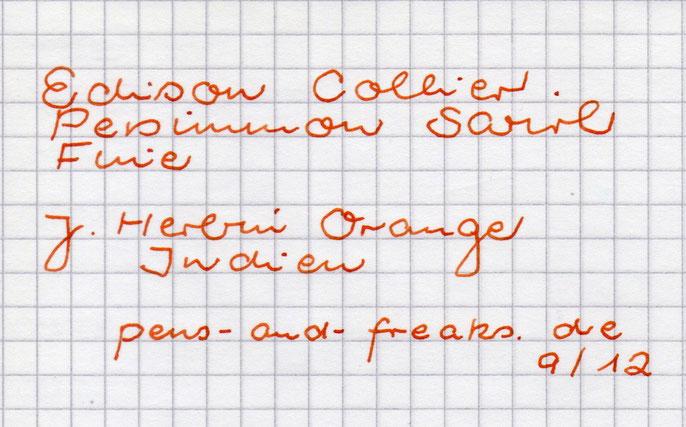 Schriftprobe mit der J. Herbin Orange Indien