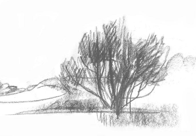 Серебристый пейзаж №1