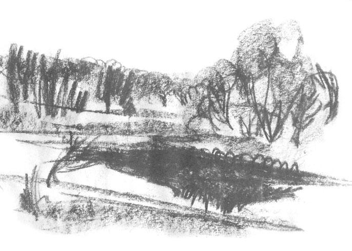 Серебристый пейзаж №2