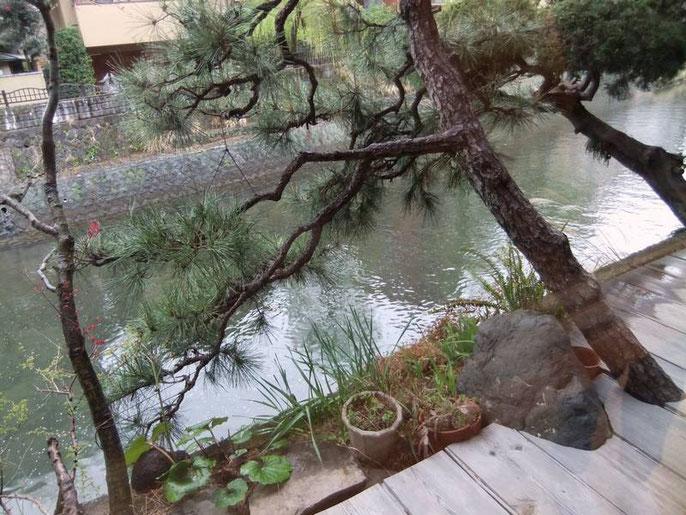 Ito K's House Onsen - le lobby - terrasse sur la rivière