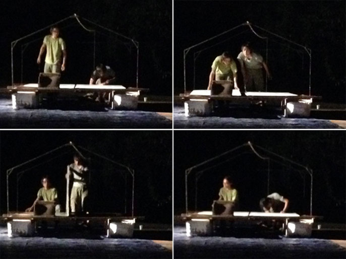 Soong Ro Ger and Andy Lim Kah Meng arrive in the night, raft is constructed - Nov 20, 2014. St Pauls Hill, Melaka
