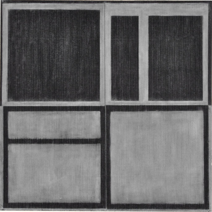 Drawing #3, 1999; charcoal & pastel on paper, 93x93cm