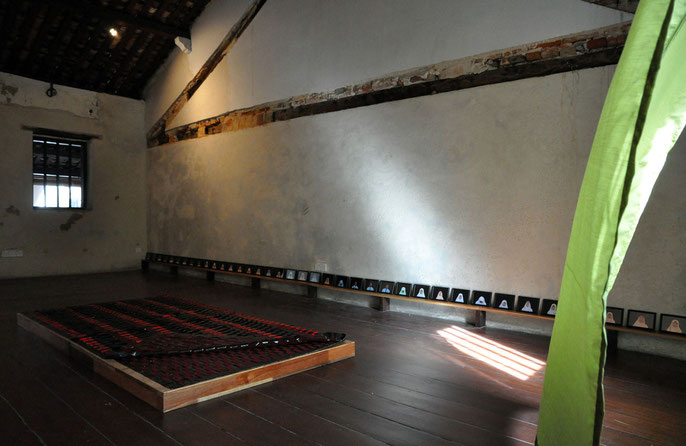 Installation view: Kuang Road Prayer, No. 8 Heeren Street Heritage Centre, Melaka (Melaka Art & Performance Festival, Nov 2010)