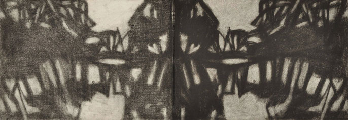 Down River Dark I-3, 2010: charcoal & pastel on paper, 21x59cm (series of 50)