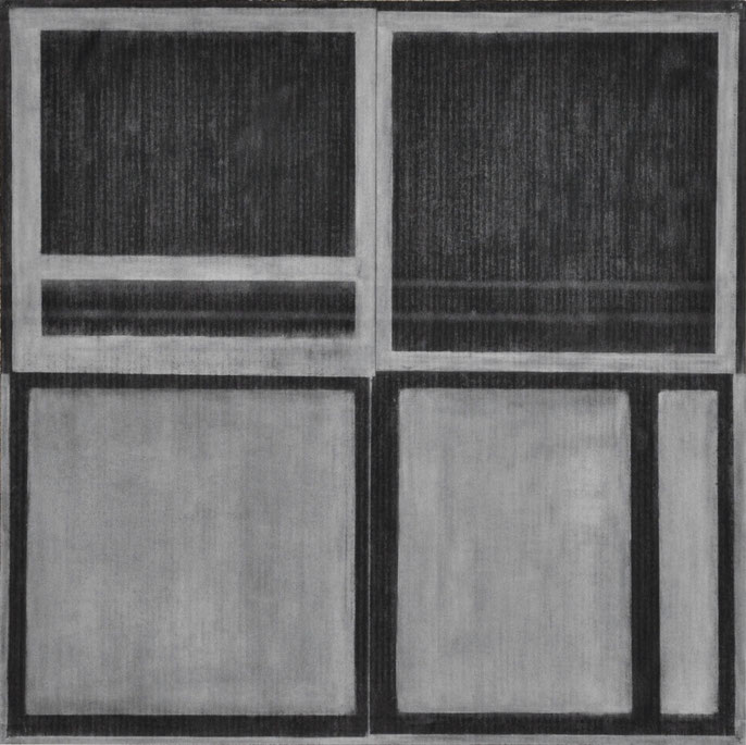 Drawing #1, 1999; charcoal & pastel on paper, 93x93cm