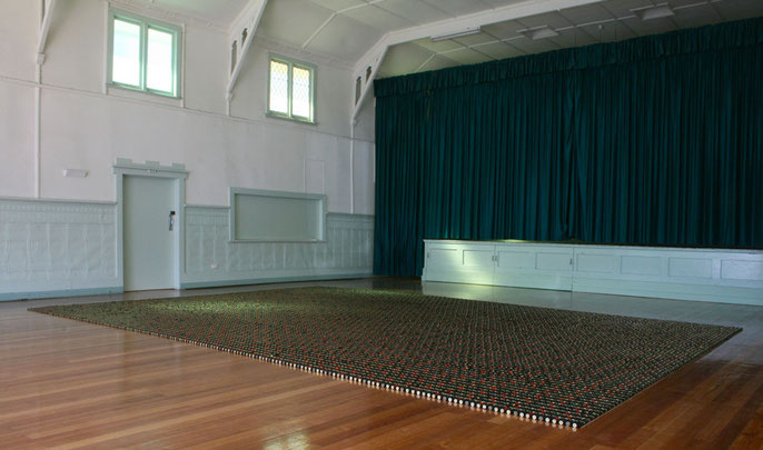 Spent #3, 2010: approx 30,000 used shot-gun shells / 7x5m; Jubilee Hall/ Horsham Regional Art Gallery, Horsham