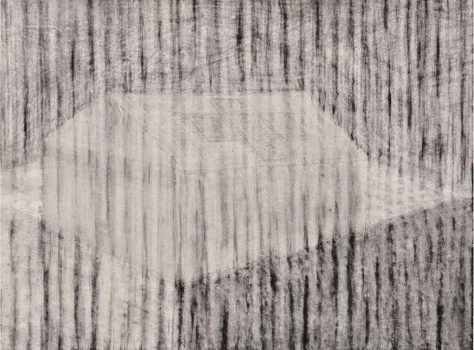 Tent and landscape, 2016 -IV: charcoal & pastel on paper, 56x76cm