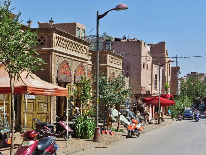 In der Altstadt von Kaschgar finden wir ein angenehmes Hotel.