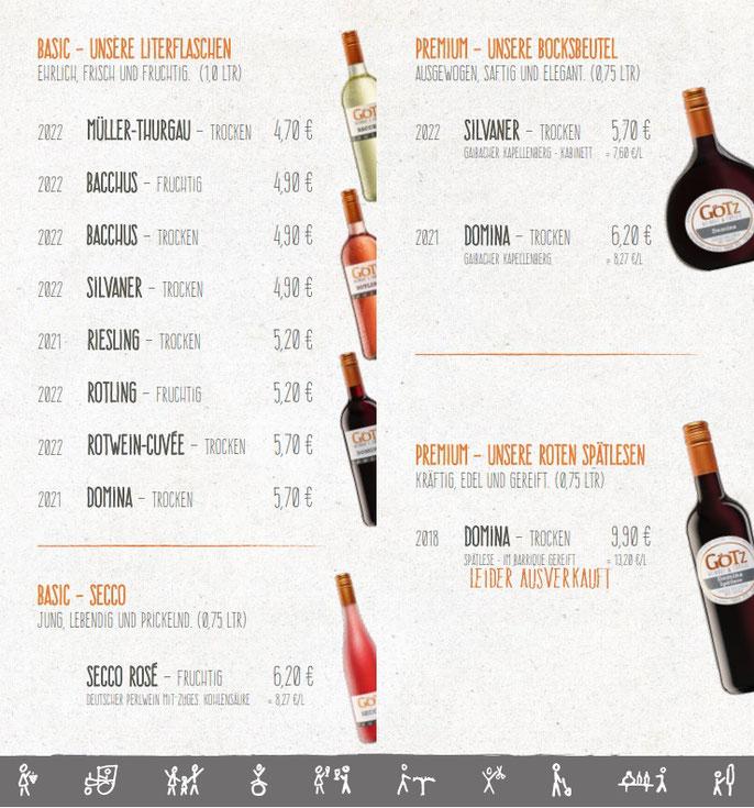Weinliste