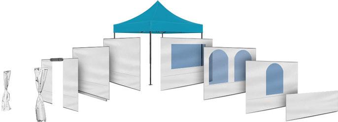 Faltzelt hier konfigurieren. Zeltkonfigurator.