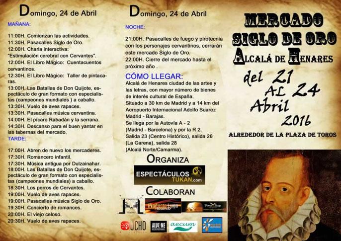 Programa del Mercado Siglo de Oro Alcalá de Henares