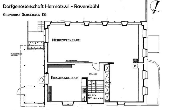 Grundriss Schulhaus EG