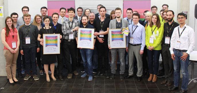 Jury und Teilnehmer am Elevator Pitch BW Regionalausscheid Pforzheim / Nordschwarzwald