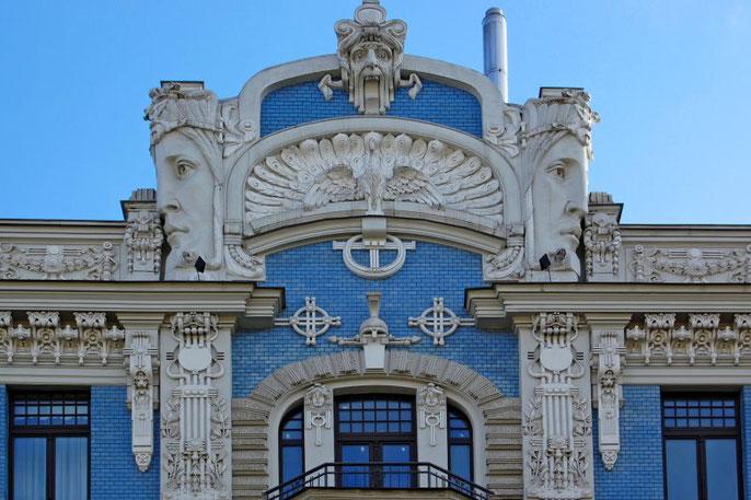 Jugendstilgebäude in der Elisabethstrasse in Riga