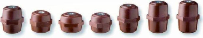 Niederspannungs stützisolatoren - aus GFK (BMC) mit Schlüsselfläche, -40 bis 130°C