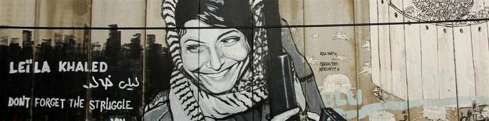 Graffiti an der Trennmauer in Bethlehem. (Photo: Pedro Gutierrez)