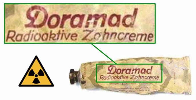 Radioaktive Zahnpasta