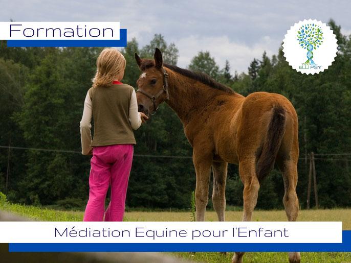 www.ellipsy.fr, formation médiation équine pour enfant, équithérapie pour l'enfant, créer des séances de médiation équine avec l'enfant