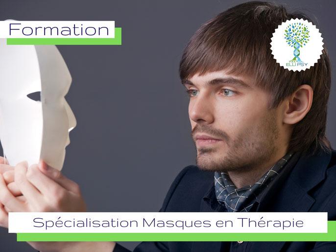 www.ellipsy.fr, formation art thérapie, danse thérapie, devenir Praticien en Art Thérapie, spécialisation Masque neutre, masque, formation 4 jours.