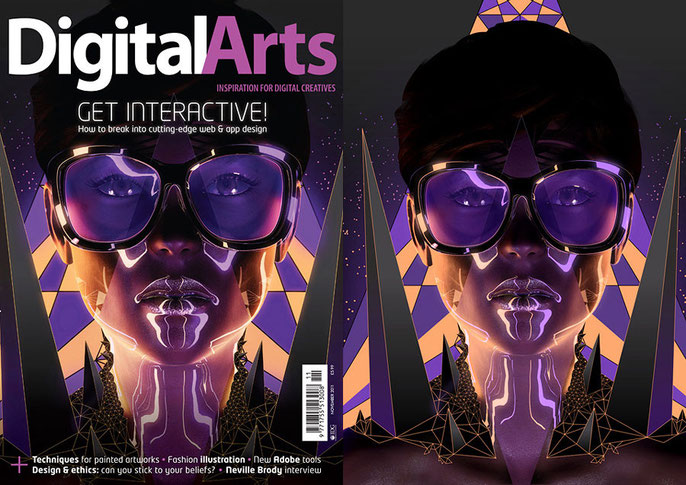 'Ava' featured on the cover of Digital Arts Magazine UK