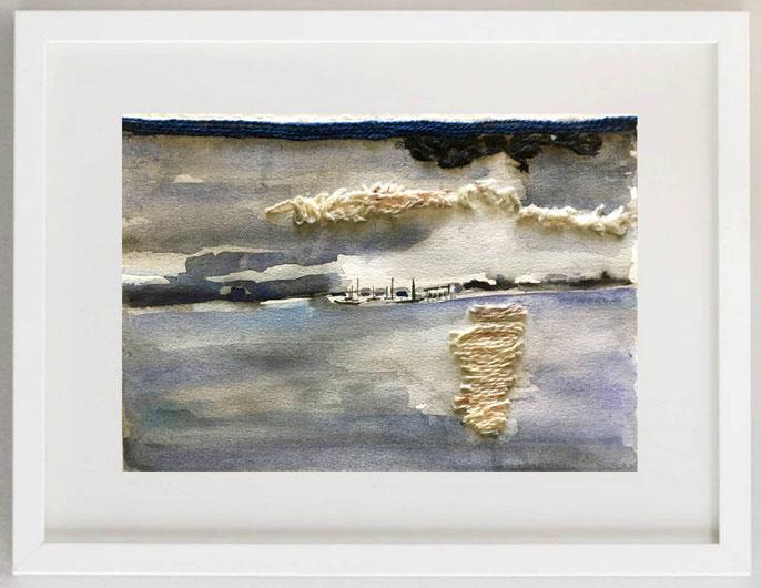 """26 / RAFFAELA ZAMBRANO, """"FELICITÀ"""", 2018, pastelli su carta, 30 x 20 cm."""