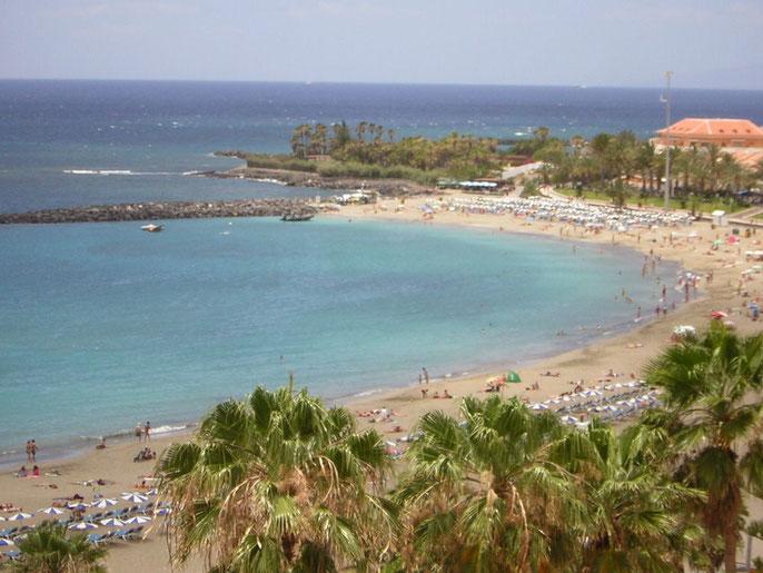 Playa Las Vistas in Los Christianos im sonnigen Süden auf Teneriffa