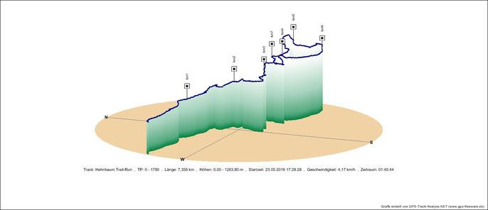 Höhendiagramm Trail-Run