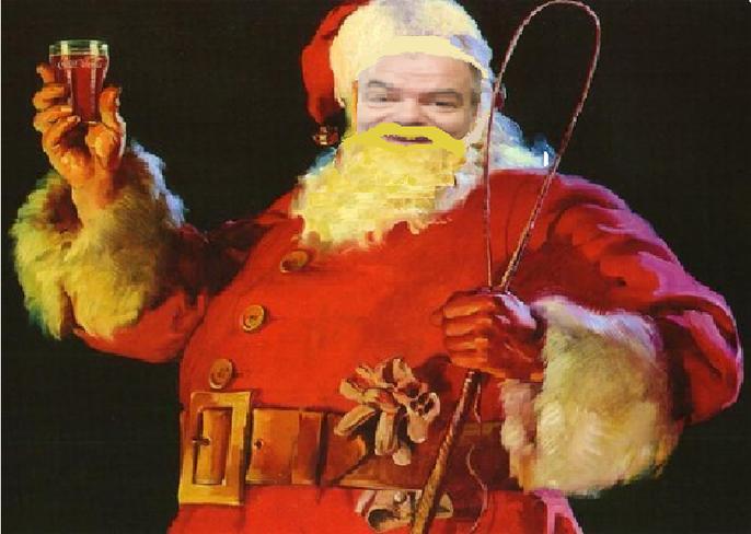 ho, ho ,ho jeune élèves je vous souhaite un joyeux Noël et comme cadeau je vous offre, un Coca Cola !