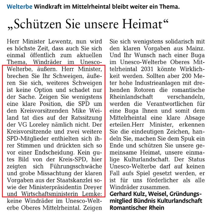 Rhein-Lahn-Zeitung v. 29.09.2015