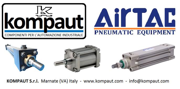 kompaut, Airtac, Cilindri oleodinamici ISO 6020/2, cilindri pneumatici ISO 15552 gamma Airtac e cilindri in stainless steel.