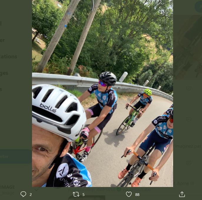 Péraud - vélo - cyclisme - coureur - Twitter - image - publication - réseaux sociaux