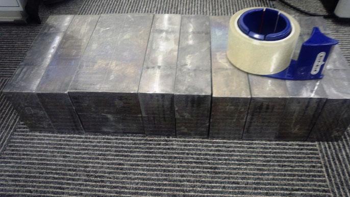 50mm鉛板10枚セット(透明梱包テープは付属しません)