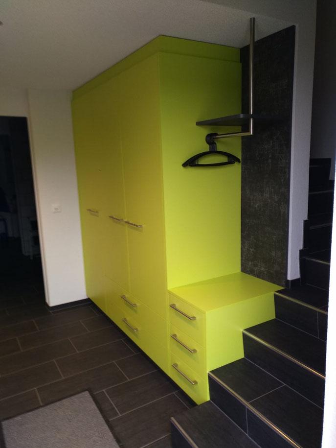 Garderobe in Neubau