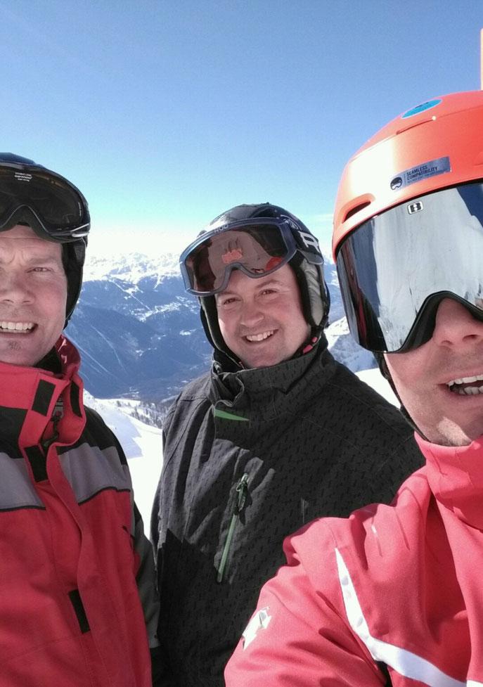 Skiusflug mitem Team