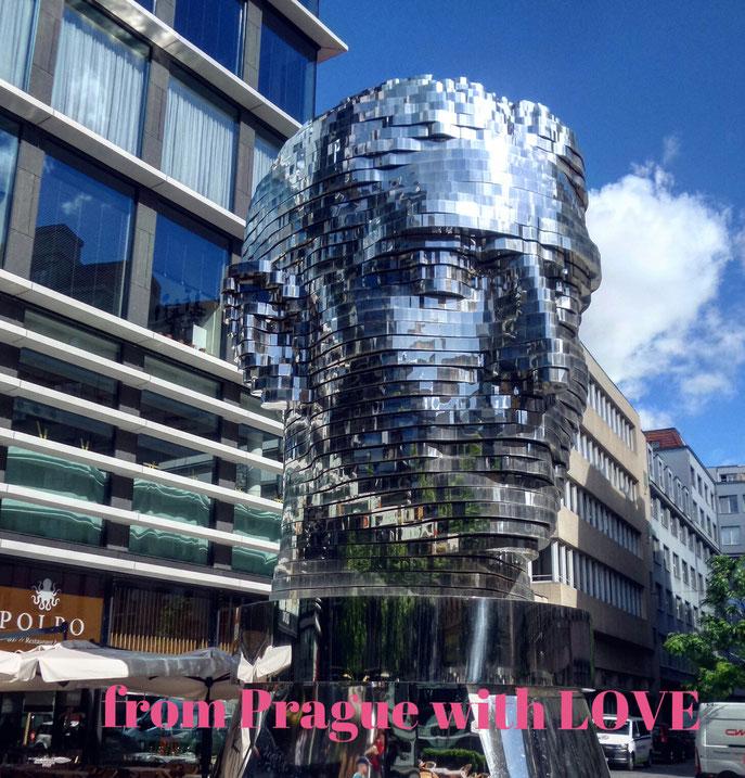 Скульптура «Голова Франца Кафки» Давида Черного