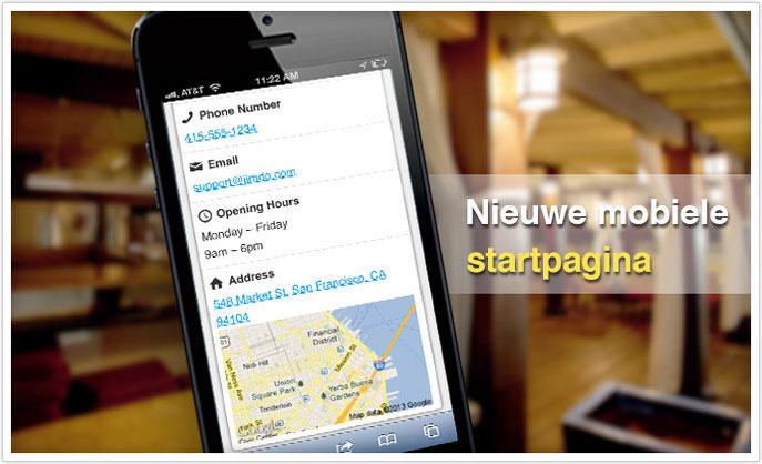 mobiele website startpagina