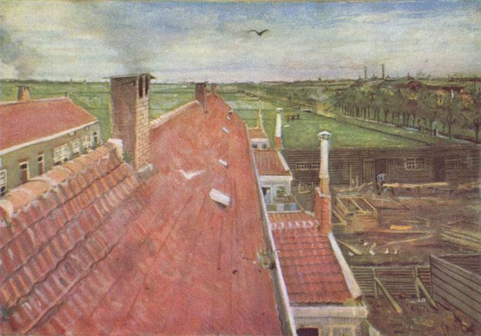 ヴィンセント・ヴァン・ゴッホ「ハーグのアトリエからの風景」(1882年)