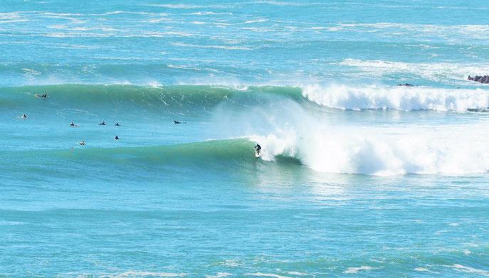 Stefan Heinrich beim Wellenreiten