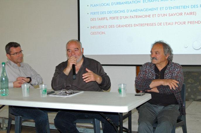 C.Carriere, maire de Sillans, R.Balbis, maire de Villecroze, M.Apostolo, président de l'ASPE