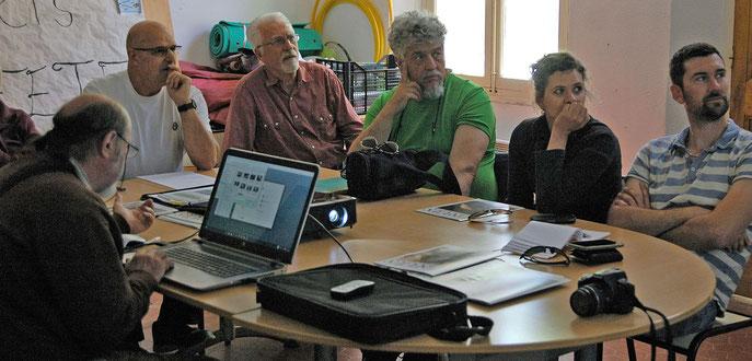 réunion mensuelle de l'OPIE présidée par Michel Papazian, à Sillans