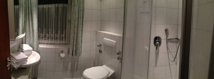 Panoramabild vom Duschbad