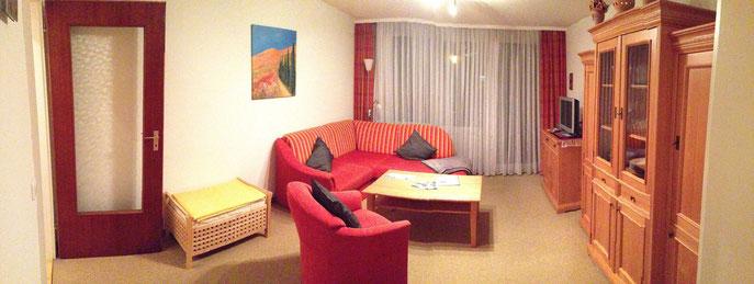 Panoramabild vom Wohnzimmer