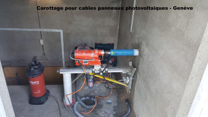Carottage de 210mm. pour ventilation. Saint Sulpice juin 2015