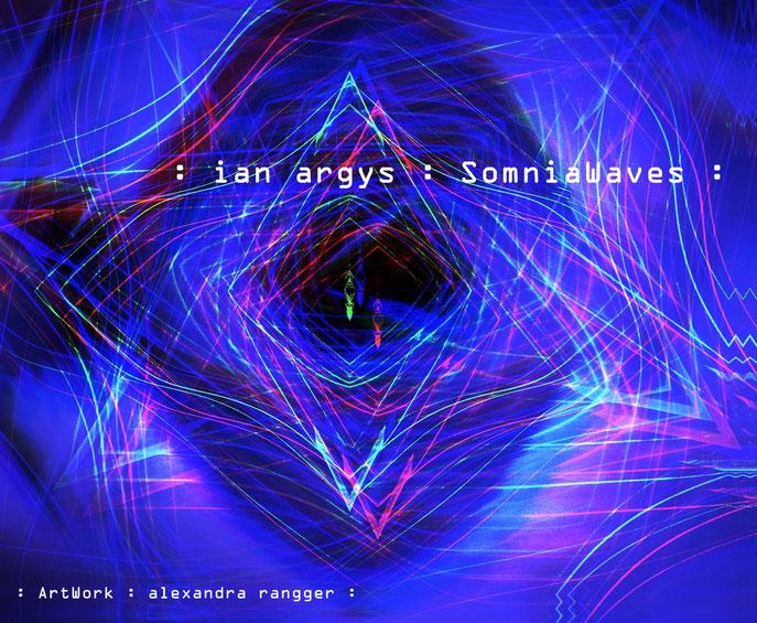 Ich freue mich sehr über die Zusammenarbeit mit dem amerikanischen Musiker Ian Argys - SomniaWaves lautet der Titel des Lightpaintings, das ich für die Covergestaltung der neuen CD erarbeitet habe. SomniaWaves ist zugleich auch der Titel des Albums.