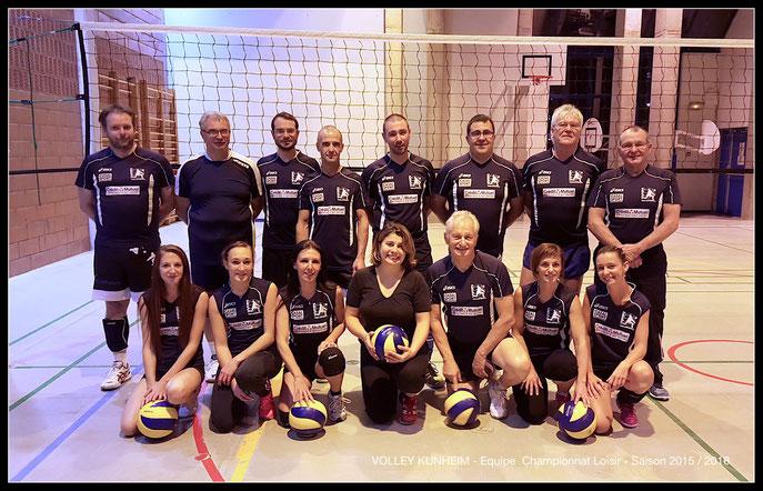 Club de Volley Kunheim - Saison 2015/2016 - Equipe championnat Loisir