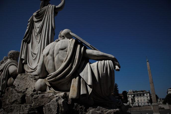 I gruppi statuari di Piazza del Popolo
