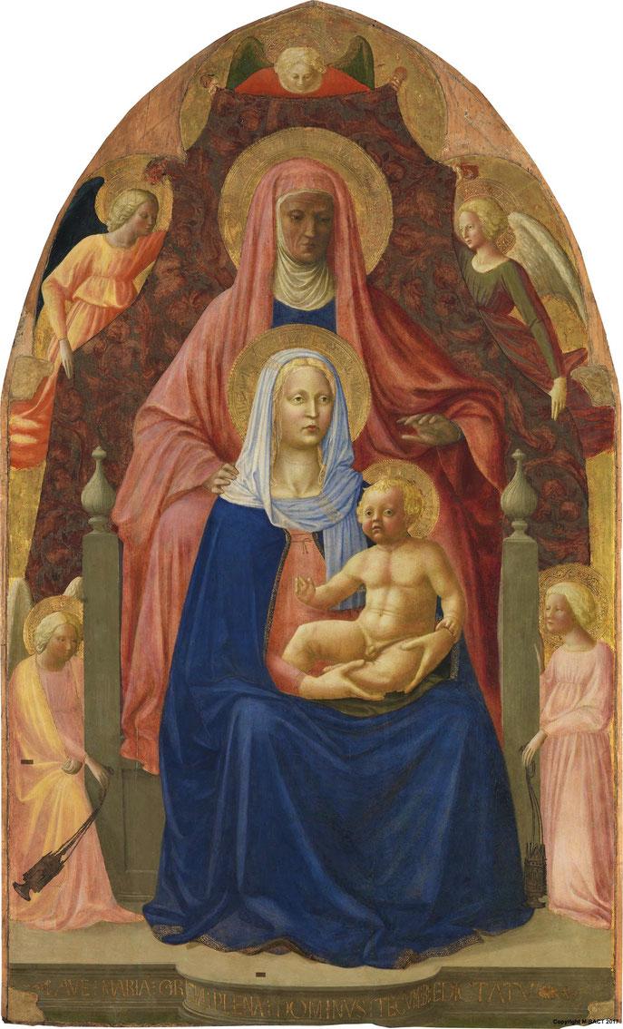 Masolino, Masaccio - Sant'Anna Metterza